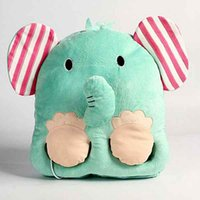 Wholesale 10 Pieces Original Cartoon USB Washable Blue Elephant Foot Warmer Electric Heater Pillow