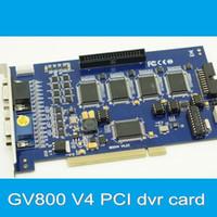 Un logiciel de capture vidéo Prix-16Go GV800 PCI DVR Card avec logiciel V8.5, GV-800 Vidéo Capture DVR Board pour les systèmes de vidéosurveillance