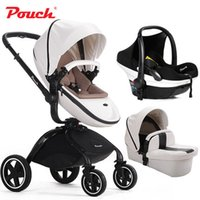baby strollers travel system - Hotsale Highview Bidirectional Folding Baby Stroller Pram in Pushchair separate sleeping basket car seat Pushchair Travelling System