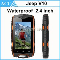 Wholesale JEEP V10 Waterproof inch MINI Smart Phone MTK6572 Dual Core GHz Waterproof Dual SIM WCDMA G Smart Mobile Rugged Outdoor Cell Phone