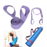 Wholesale 6FT Soft Cotton Elastic Yoga Pilates Mat Looped Sling Strap Exercise Stretch