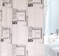 bathroom window valance - 180x180cm x200cm Waterproof bathroom windows curtain shower drapes EVA living room valance