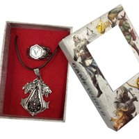 assassin pendant - Assassins creed games ring necklace ornament pendant jewelry with gift box