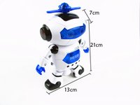 Wholesale Dance robot of degree rotation infrared light music dance robot