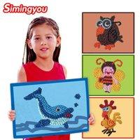 art painting materials - Simingyou Children Montessori Educational Toy Mosaic Stickers Art Montessori Materials Painting Pickup Crumpled Paper