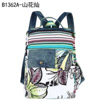 backpacks parties - the new women s new cloth large capacity backpack zipper explosion models Canvas Backpack vertical zipper zipper pocket money party stamp