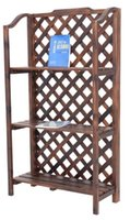 antique furniture bookcase - Living Room Furniture Wooden Grid Shape Hierarchical Bookcase