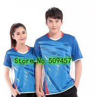 badminton outfits - New arrival The new badminton sports wear sweethearts outfit style men and women uniforms T shirt