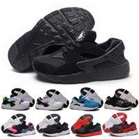 fabric for kids - 2016 New Kids Huarache Snakers Shoes For Boys Grils Authentic White Red Black Children s Trainers Sport Running Shoes Size