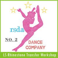 Wholesale Factory customized Rsda Dance Fashion Gril Hot Fix rhinestone transfer patterns