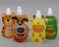 animal water bottle - 100pcs trendy animal shape Cartoon foldable collapsible ml water bottle Flask FDA APPROVED DHL Fedex
