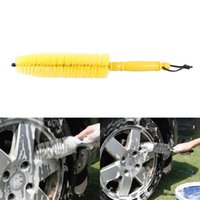 Wholesale 1pcs Yellow Wheel Tire Rim Brush Wash Cleaner Tire Brushes