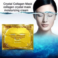 Wholesale Whitening Hydrating Mask Bio Gold Crystal Collagen Facial Mask of Gold Powder Collagen Anti aging