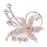 Wholesale Europe And The United States Fashion Set With Diamonds Flower Brooch Top grade Ma am