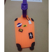 Wholesale Cute Rubber Luggage Tag ID Identify Label Holder For Suitcase Handbag Baggage Recognizable Mixproof Cover Card Easily Travel