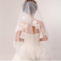 amazing applique - Custom Made Stock Inexpensive Accessories Veils Two Pieces Appliques Edge tulle Bridal Accessories Hot Sales Modern Amazing
