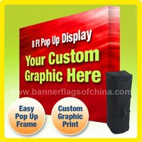 aluminum advertising - Portable Folding Pop Up Display ft x300cm Trade Show Display Advertising Display Aluminum Pop Up Display Backdrop Stand POS B