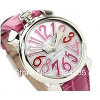 belt buckles personalized - Personalized fashion rose belt large dial unisex quartz gaga watches leather strap watch
