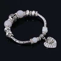 Cheap Fashion charm bracelet 9 color 925 silver bracelet set auger love Ms crystal pearl accessories The Chinese jewelry wholesale DIY