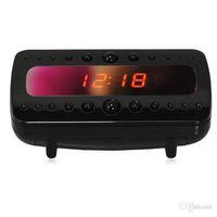 Wholesale V26 IR Clock Camera Full HD P Black Pearl RF Night Vision Alarm Clock Mini DVR Recorder With Motion Detection Remote Control Newest