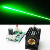 Wholesale 100mW Diode Laser nm Green Laser Module with Heat Sink and DC5V TTL Driver