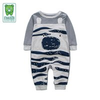 Wholesale 2016 Autumn winter baby newborn romper baby boys clothes cotton infant jumpsuit