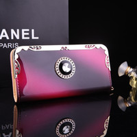 designer purses - Brand New PU Faux Leather Women Long Purse Zipper Wallet Phone Case Designer Gradient Color Purses For Women