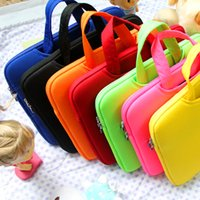 Wholesale Portable Fashion Soft Sleeve Laptop Bag Case Briefcase Handlebag Pouch for inch quot Macbook Air Pro Ultrabook Laptop Notebook