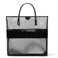 bb cell - H1043 BB Cozy Casual Chic Large Size Black Sieve cloth Shopper Tote bag beach bag handbag DROP SHIPPING
