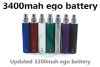 Ego battery ego t 3200mah battery 3200mah Top quality ego t battery 3400mah huge capacity 3400 mAh prior 1300mah 2200 EVOD spider battery vision spin e cig cigarette vapor mods DHL
