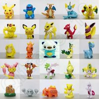 Wholesale Poke Mini Figure Toy Cute Cartoon Pikachu cm per pokeball toys Pocket Monster Lovely Figures LJJO626