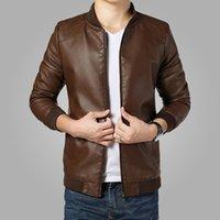 Wholesale 2016 New Arrival Leather Jackets Men s jacket male Outwear Men s Coats Spring Autumn PU Jacket De Couro Coat Plus Size M XL