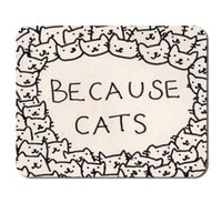 Wholesale Trendy Because Cats Phone Case Desktop Office Silicone Mouse Pad game Mouse Pads Kids Decor Office Decor Boys Gift Custom Mousepad