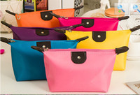 Wholesale 2016 hot Colors High Quality Lady MakeUp Pouch Cosmetic Make Up Bag Clutch Hanging Toiletries Travel Kit Jewelry Organizer Casual Purse