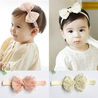 baby star sparkle - New Arrive Hair Accessories five star sparkle headbands Female baby hair accessories lace bow knot hair band