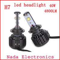 Wholesale H7 LED Car Headlight Bulb Kit W lm Auto Front Light H7 Fog Light Bulbs K DC12V V Led Automotive Headlamp