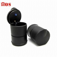Wholesale SP Mosunx Business Hot Selling LED Portable Car Truck Auto Office Cigarette Ashtray Holder Cup Black