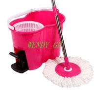 Cheap 2016 Hot saeling No 8 Style Easy Wring Floor Mopping Spin Magic 360 For Dust Cleaning Easy life mop Same as TV Shown