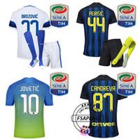 Wholesale 2016 Inter Milan soccer Jerseys Home Away soccer jersey ICARDI JOVETIC PERISIC Football suit socks