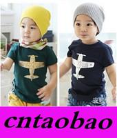 aircraft plane - New Baby Boy Planes T shirt Children Summer Tops Tees Aircraft Cotton Toddler Cartoon T Shirt