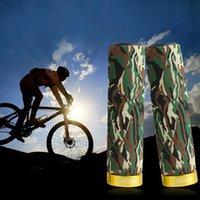 alloy aluminium grip - Aluminium alloy Camo Bike Handlebar Grips Caps MTB BMX Bicycle Lock On Sponge Cover MN0074 kevinstyle