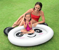 Wholesale 2016 Cartoon Panda baby paddling pool inflatable family swimming pool sand pool ocean ball pool Baby Tubs