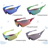 Wholesale Newest design Super light Rimless eyeglasses Cycling Sunglasses outdoor sports climbing bike riding eye protect colors