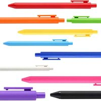 Wholesale 12 Colorful Cute Gel Pens Stationery Colors Creative Gift School Office Supplies Pens For Writing Promotional Pens Papelaria