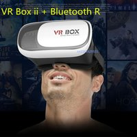 Wholesale 2016 Google cardboard VR BOX II Version VR Virtual Reality D Glasses For inch Smartphone Bluetooth Controller