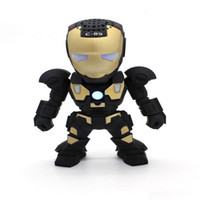 Wholesale Iron Man Bluetooth Speaker Wireless C Iron Man Figure Speaker With LED Flash Light Support TF Card For All Mobile Phone