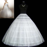 Wholesale Cheap Ball gown Petticoat White Hoops Tulle Petticoat Crinoline Floor length Ball gowns Wedding Accessories Hot sale F372