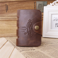 Wholesale Brand new Men s wallet Cowboy style Brown wave of money Antique Wallets