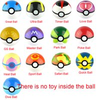 Wholesale 13Styles CM Pokeball No Free doll Poke ball Figures Anime Action Figures Toys