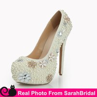 arabic shoes - Custom Made Bridal Shoe for Bride Bridesmaid Party Women s Wedding Evening Pageant Dress Shoes Platform Arabic Luxury Prom Girls Pumps Sale